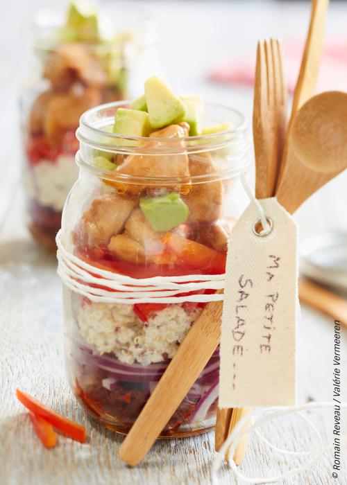 salade moelleuse quinoa et poulet